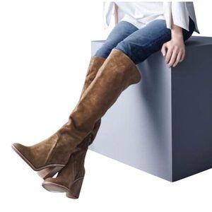 NWOT Dark Grey Melaya over the knee Suede boots